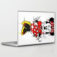 minnie Laptop & iPad Skins featuring Minnie Mashed by Dave Seedhouse.com