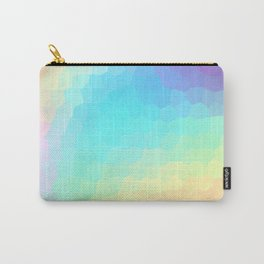 Pastel Rainbow Gradient With Stained Glass Effect Carry-All Pouch