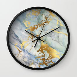 Lovely Marble with Gold Overlay Wall Clock