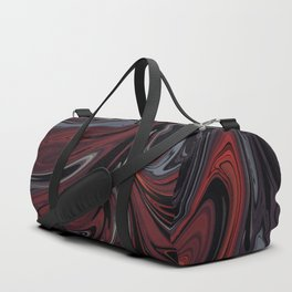 Grey & Red Abstract Painting Duffle Bag