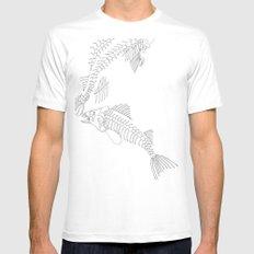 fish bones Mens Fitted Tee White MEDIUM