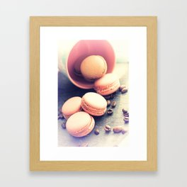 Sweet Cake with coffee beans Framed Art Print