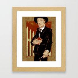 Robert Mitchum - Night of the Hunter Framed Art Print