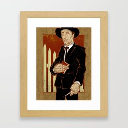 Robert Mitchum - Night of the Hunter Framed Art Print