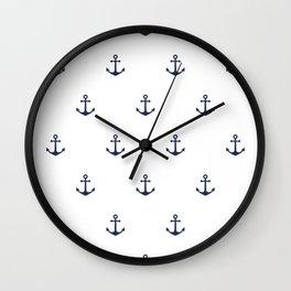 Anchor Pattern Wall Clock