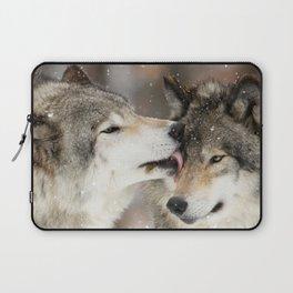 Wolf Kisses Laptop Sleeve