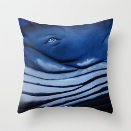 blue giant of the ocean Throw Pillow