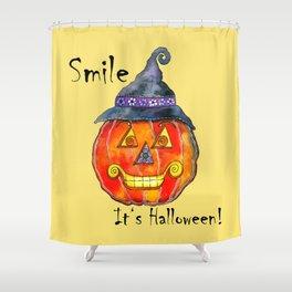 Smile, it's Halloween! Shower Curtain