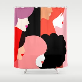 Girl Power we persist  #girlpower Shower Curtain