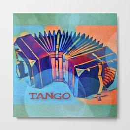 Tango Bandoneon Digital Art Metal Print