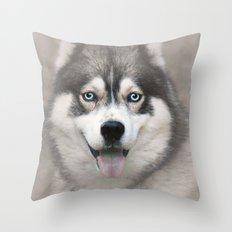 Siberian Husky 2 Throw Pillow