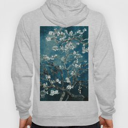 Van Gogh Almond Blossoms : Dark Teal Hoody