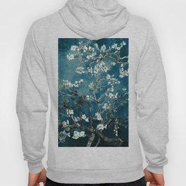 Van Gogh Almond Blossoms : Dark Teal Hoodie