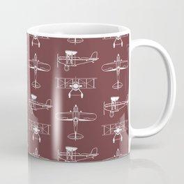Biplanes // Tosca Red Coffee Mug