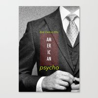 american psycho Canvas Prints featuring american psycho  by Andy Torres