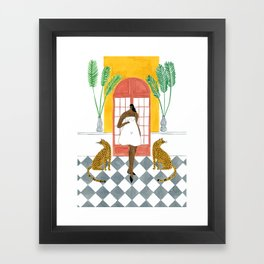 Ashish Dress Framed Art Print