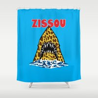 zissou Shower Curtains featuring Zissou by Buby87