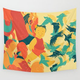 And A Little Girl Who Only Wished To Fly Wall Tapestry