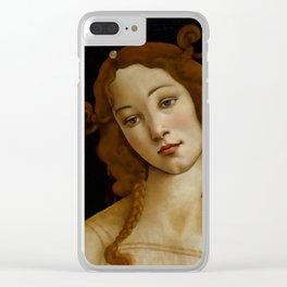 "Sandro Botticelli ""Venus"" (Sabauda Gallery, Turin) Clear iPhone Case"