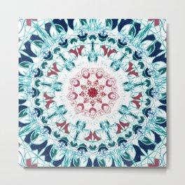 Blush & Blue Mandala Metal Print