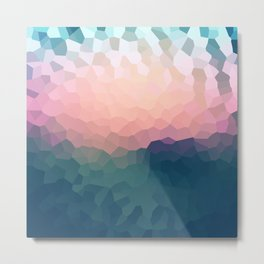 Abstract blue - pink background . Metal Print