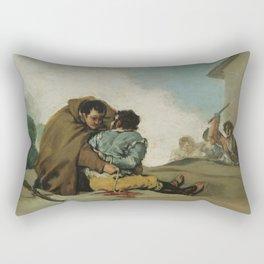 Francisco de Goya - Friar Pedro Binds El Maragato with a Rope Rectangular Pillow