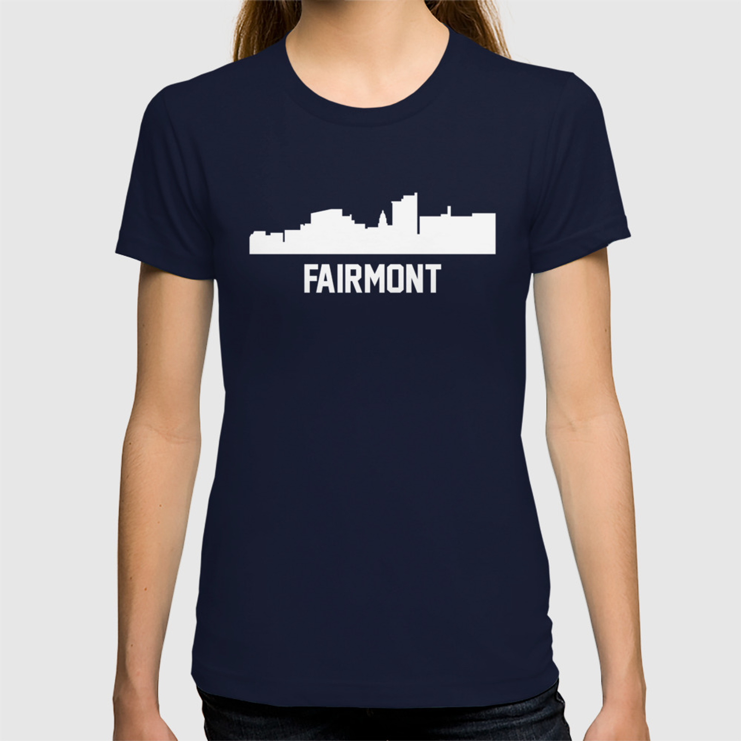 Fairmont West Virginia Skyline Cityscape T-shirt by awesomeart | Society6