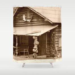 Old Log Cabin Shower Curtain