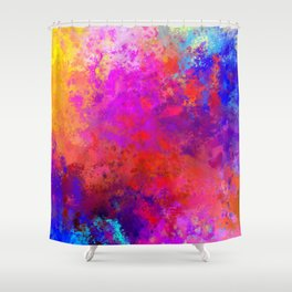 Colorful Splatter Shower Curtain