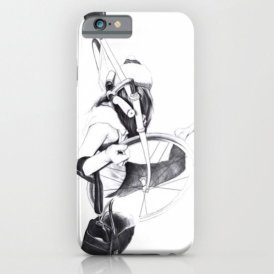 Bike girl iPhone & iPod Case