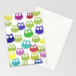 Owls on Parade Stationery Cards