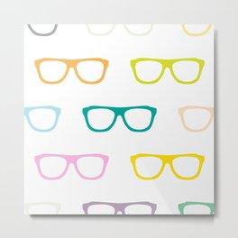 Colorful Specs Metal Print