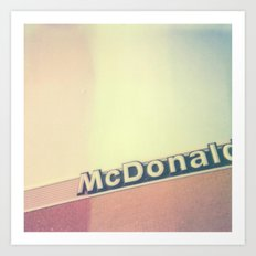McDonalds Polaroid Art Print