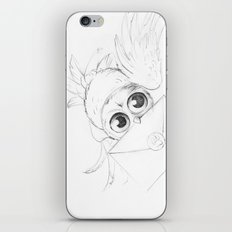 Little owl, Pigwidgeon, flying with a letter iPhone Skin