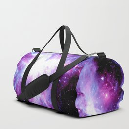 Orion Nebula Purple Periwinkle Blue Galaxy Duffle Bag