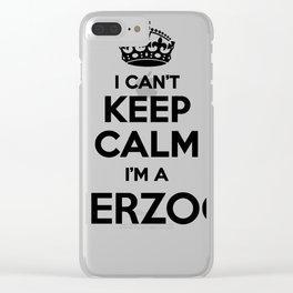 I cant keep calm I am a HERZOG Clear iPhone Case