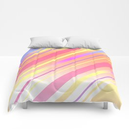 Sunset Sideways Stripy Comforters