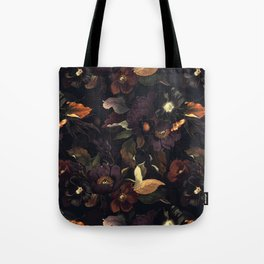 Vintage & Shabby Chic - Flowers at Night Tote Bag