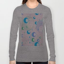 Seamless pattern background with a bubbles on a pink background. Long Sleeve T-shirt