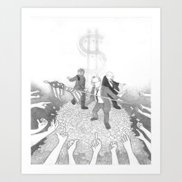 Kings Of The Hill Art Print