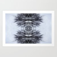 Mirrored Branches Art Print