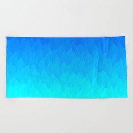 Electric Blue Ombre flames / Light Blue to Dark Blue Beach Towel