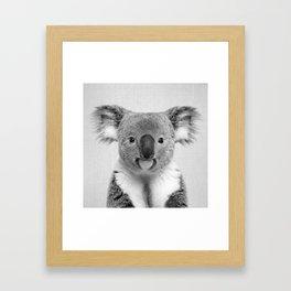 Koala 2 - Black & White Framed Art Print