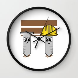 """""""Nail Engineers"""" tee design. Makes an adorable and cutie gift to your engineer friends and family!  Wall Clock"""