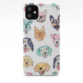 Colorful Dogs! iPhone Case