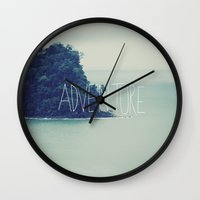 island Wall Clocks featuring Adventure Island by Leah Flores