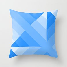 Blue Gradient abstract Throw Pillow