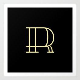 Letter R - Alphabet  Art Print