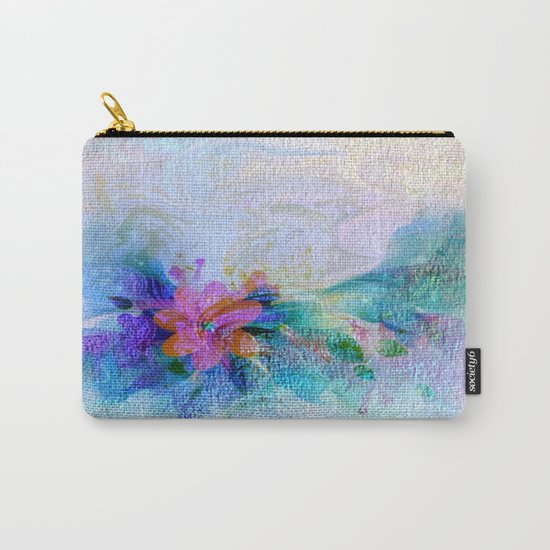 Soft Shaded Floral Abstract Carry-All Pouch