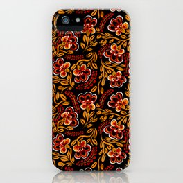 Russian Khokhloma Floral iPhone Case